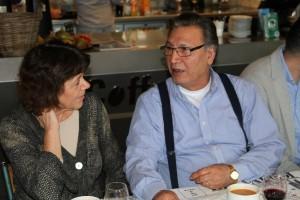 Mustafa Ayranci ve Volkskrant gazeetesinden Janny Groen